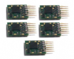Gaugemaster BPDCC23 Classic Decoder - 6 Pin Plug-in N Scale Decoder (5 Pack)
